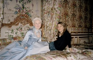 Kirsten Dunst and Sofia Coppola on the set of Marie-Antoinette, 2005