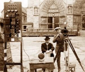 """Filming """"Hunchback of Notre Dame""""."""