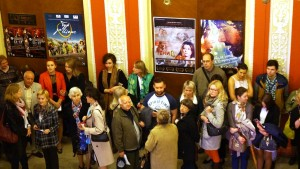 "People wait before the screening ""Shades of Day"" (click on for better view!)"