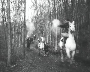 Screenshot from The Great Train Robbery (1903)