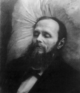 Dostoyevsky on his Bier by Kramskoi