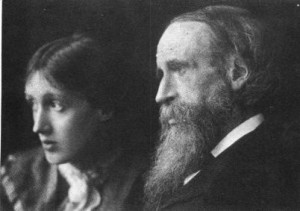 Virginia with with her father