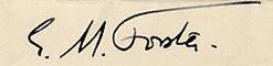 E.M Forster's Signature