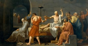 Socrates was given the chance to flee, but chose to sacrifice himself for his beliefs