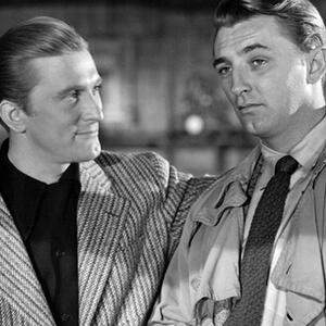 Kirk Douglas and Robert Mitchum