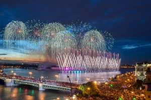 Water show and firework - White Night's Celebration