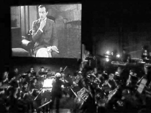 Silent movie and orchestra