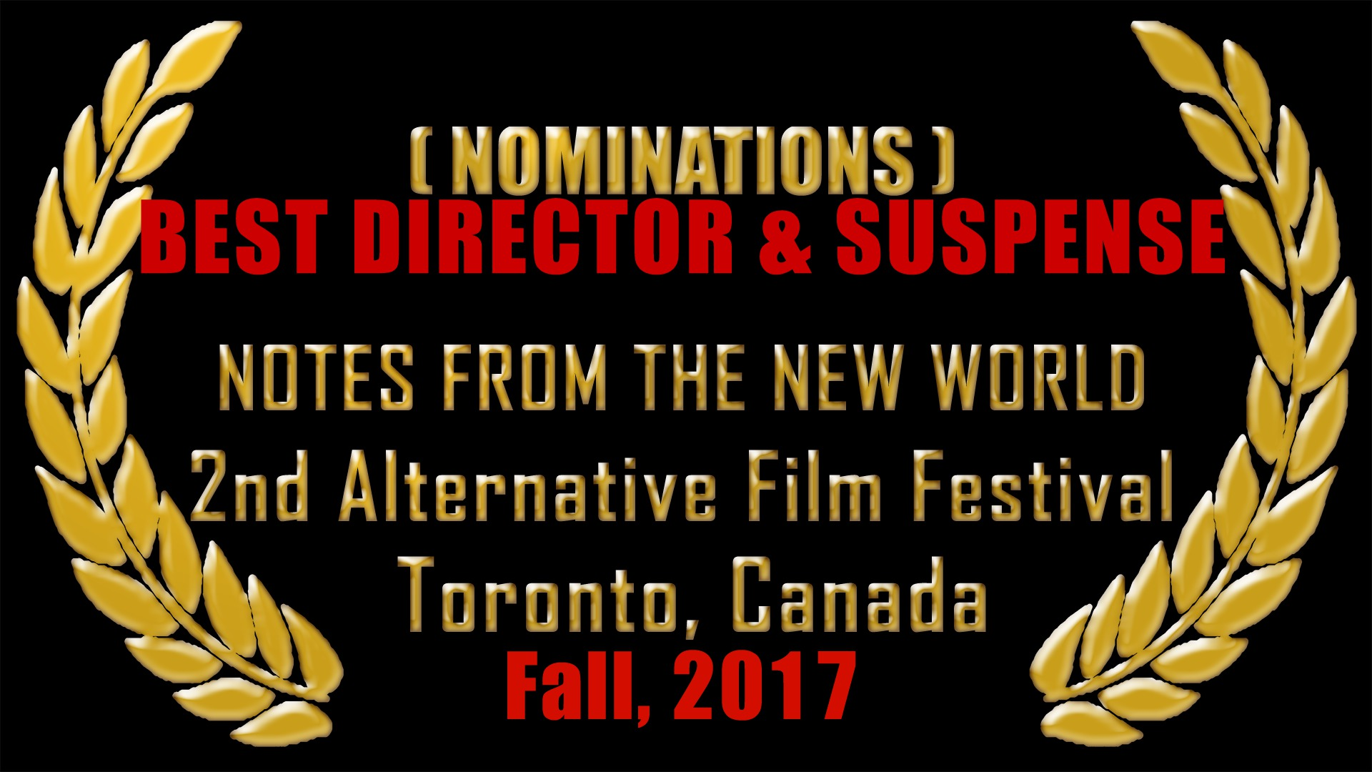 Nominations - Alternative International Film Festival 2017