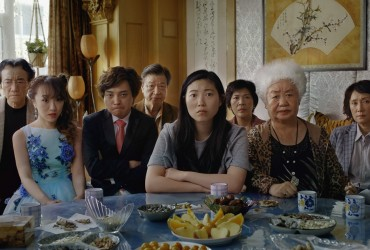 Jian Yongbo, Kmamura Aio, Chen Han, Tzi Ma, Awkwafina, Li Ziang, Tzi Ma, Lu Hong and Zhao Shuzhen appear in a still from The Farewellby Lulu Wang, an official selection of the U.S. Dramatic Competition at the 2019 Sundance Film Festival. Courtsey of Sundance Institute | photo by Big Beach   All photos are copyrighted and may be used by press only for the purpose of news or editorial coverage of Sundance Institute programs. Photos must be accompanied by a credit to the photographer and/or 'Courtesy of Sundance Institute.' Unauthorized use, alteration, reproduction or sale of logos and/or photos is strictly prohibited.
